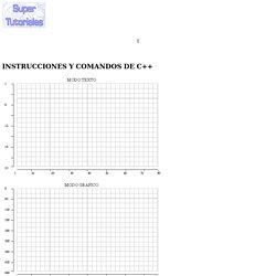 Instrucciones y comandos de C++