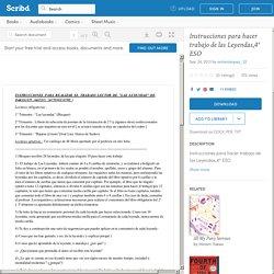 Instrucciones para hacer trabajo de las Leyendas,4º ESO