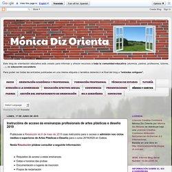 Mónica Diz Orienta: Instrucións de acceso ás ensinanzas profesionais de artes plásticas e deseño 2017