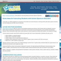 Some Ideas for Instructing Students with Autism Spectrum Disorders — Icebergs and Glaciers