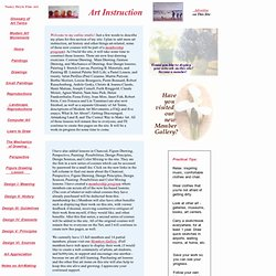 Online Fine Art Instruction in Drawing, Painting, Pastel, Charcoal, and Lessons in Color Theory, Space and Composition