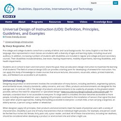 Universal Design of Instruction (UDI): Definition, Principles, Guidelines, and Examples
