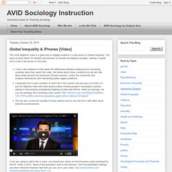 AVID Sociology Instruction: Global Inequality & iPhones [Video]
