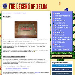 The Legend of Zelda: Instruction Manuals « Legends of Localization