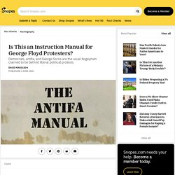 Is This an Instruction Manual for George Floyd Protesters?