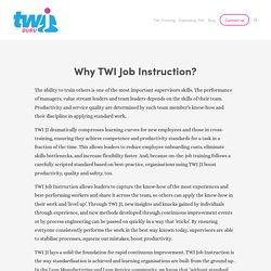 TWI Job Instruction
