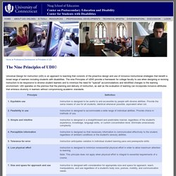[Universal Design for Instruction in Postsecondary Education]
