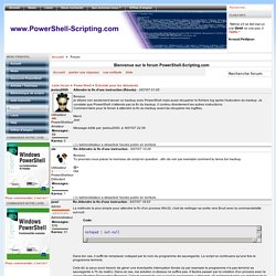 Re:Attendre la fin d'une instruction - Bienvenue sur le forum PowerShell-Scripting.com