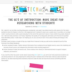 The 5e's of Instruction: More Ideas for Researching with Students - Tech With Jen