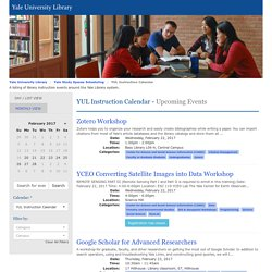 YUL Instruction Calendar - Yale Study Spaces Scheduling - Yale University Library