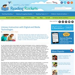 Literacy Instruction with Digital and Media Technologies