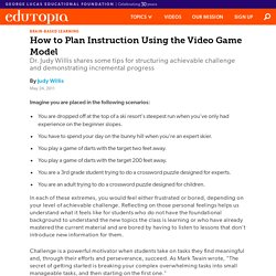 How to Plan Instruction Using the Video Game Model