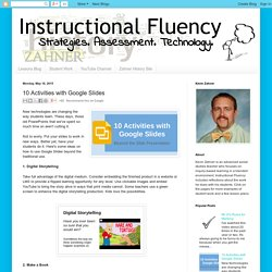 Instructional Fluency: 10 Activities with Google Slides