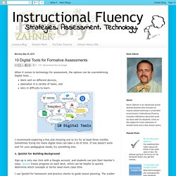 Instructional Fluency: 10 Digital Tools for Formative Assessments