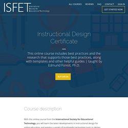 Online Instructional Design Certificate (Online)