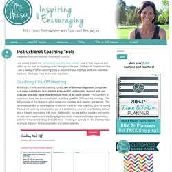 Instructional Coaching Tools