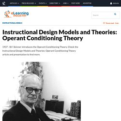Instructional Design Models and Theories: Operant Conditioning Theory - eLearning Industry