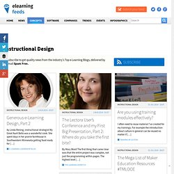 The Top Instructional Design news from The Top Instructional Design Blogs.