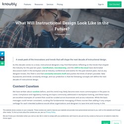 What Will Instructional Design Look Like in the Future?
