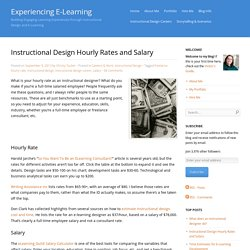 Instructional Design Hourly Rates and Salary