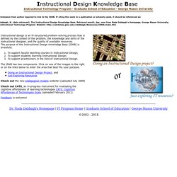 Instructional Design Knowledge Base