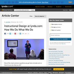 Instructional Design at lynda.com: How We Do What We Do