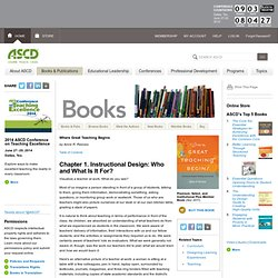 Instructional Design: Who and What Is It For?