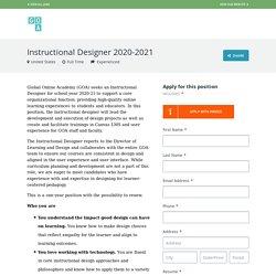 Instructional Designer 2020-2021 - Global Online Academy - Career Page