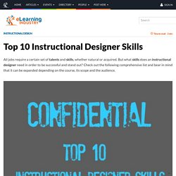 Top 10 Instructional Designer Skills