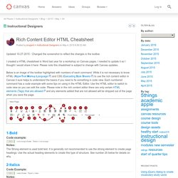 Instructional Designers: Rich Content Editor HT...