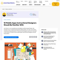 10 Mobile Apps Instructional Designers Should Be Familiar With - eLearning Industry