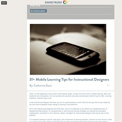 31+ Mobile Learning Tips for Instructional Designers