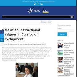 Role of an Instructional Designer in Curriculum Development