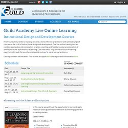 Academy - Live Online Training - Categories - Instructional Design and Development