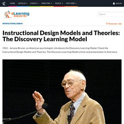 about J BRUNER : The Discovery Learning Model