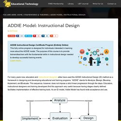 The ADDIE Model: Instructional Design - Educational Technology