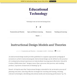 Instructional Design Models and Theories - Educational Technology