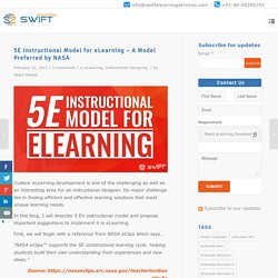 5E Instructional Model for eLearning Preferred by NASA