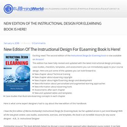 New Edition of the Instructional Design for ELearning Book is Here! – Your eLearning World