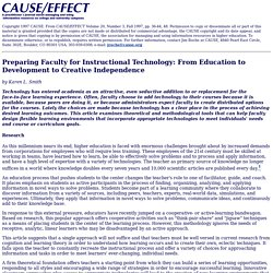 Preparing Faculty for Instructional Technology: From Education to Development to Creative Independence