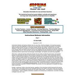 Instructional Methods Information - Part 1