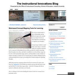 Web-based Concept Mapping Tools for Learning