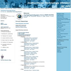 Instructional Technology Division NC Department of Public Instruction