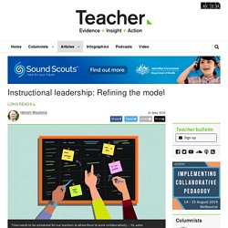 Instructional leadership: Refining the model