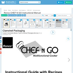RONCO CHEF N GO INSTRUCTIONAL MANUAL Pdf Download.