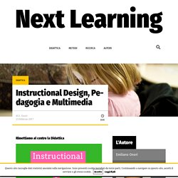 Instructional Design, Pedagogia e Multimedia – Next Learning