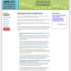 Instructional Systems Development Opportunities at ASTD 2012