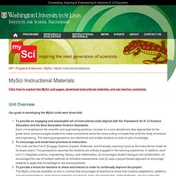MySci Instructional Materials - Institute for School Partnership