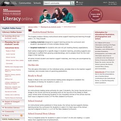 Instructional Series / Planning for my students' needs / Literacy Online / English - ESOL - Literacy Online website - English - ESOL - Literacy Online