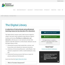 Smarter Balanced Digital Library: A collection of instructional and professional learning resources